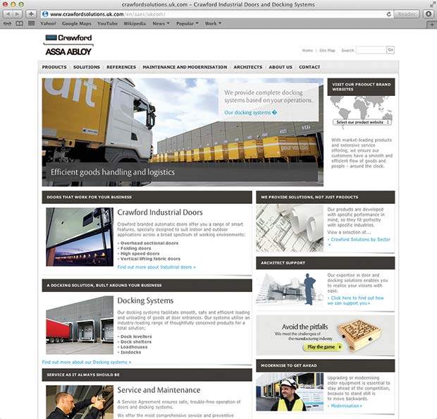 website revamp for crawford assa abloy warehouse. Black Bedroom Furniture Sets. Home Design Ideas